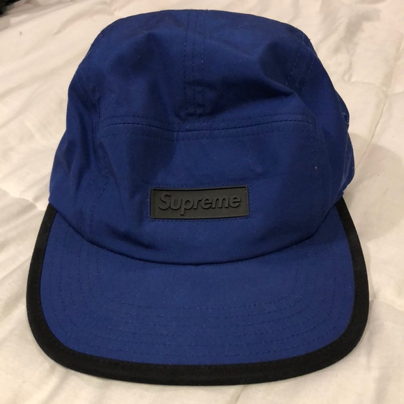 NWT Supreme NY Black Big Box Logo Visor 6-Panel Strapback Hat Cap SS18 AUTHENTIC